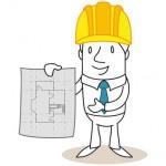 Geschäftsmann, Architekt, Bauplan, Grundriss