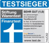 Travelsecure Würzburger Auslandsreisekrankenvers. für Single & Familie