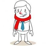 Geschäftsmann, Erkältung, Fieber, Grippe, Schnupfen